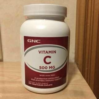 GNC 維他命C 500mg (Vitamin C) 250粒