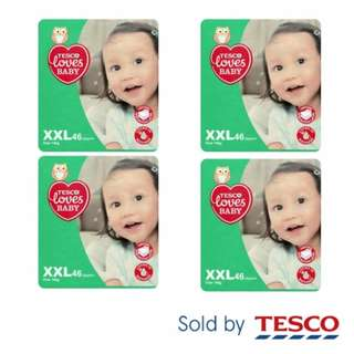 4 x Tesco Loves Baby XXL46 (Over 14kg) Disposable Diapers