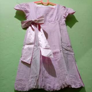 Pink Baloon Mini Dress