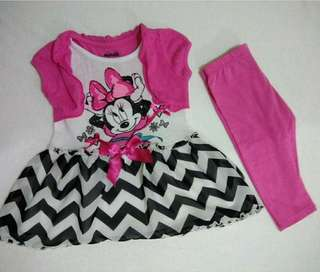 Minnie Mouse Terno Set 2T