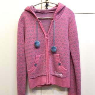 🚚 Billabong 粉色針織外套