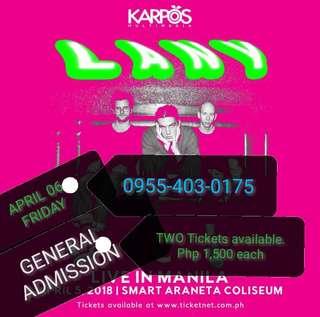 LANY Live in Manila April 6 Gen. Ad