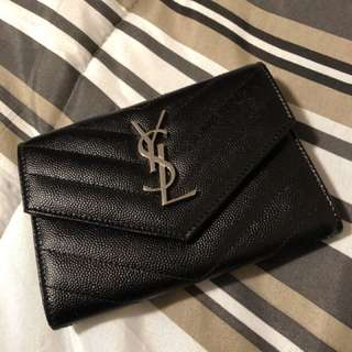 AUTHENTIC YSL MONOGRAM ENVELOPE WALLET