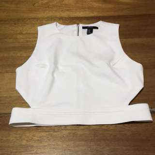 Forever 21 - crop top white