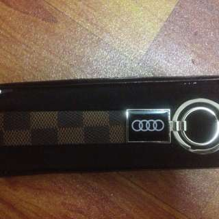 audi keychain leather