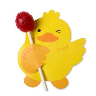 DIY91. Lollipop Packaging Only (Duck) in 10 pcs (Gift Wrapping)