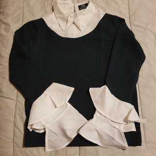 Sweater Shirt Rumple