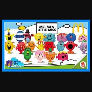 (WTT only) Mcdonalds' Mr Men & Little Miss