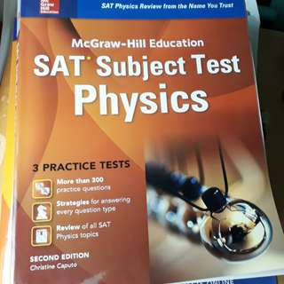 🚚 McGraw-Hill SAT physics - subject tests (brand new)