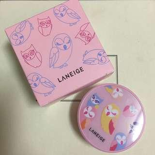 蘭芝Laneige 貓頭鷹限量版氣墊粉底+補充包