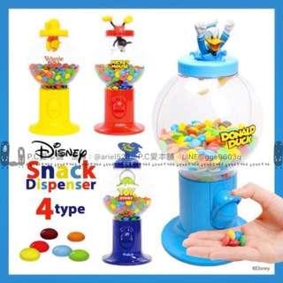 日本連線預購Disney-卡通明星 立體公仔 糖果扭蛋機 (4款/禮盒裝)