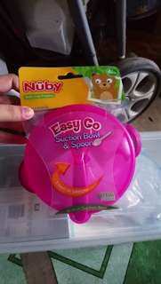 Nuby easy go suction bowl with spoon
