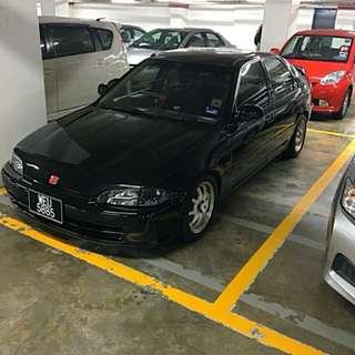 Honda Civic eg8 B16a auto blue tag japan