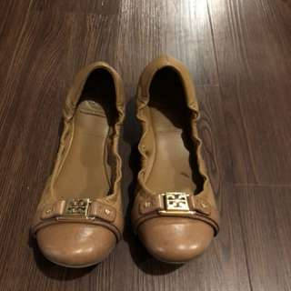 Tory Burch flats size 9 Tan