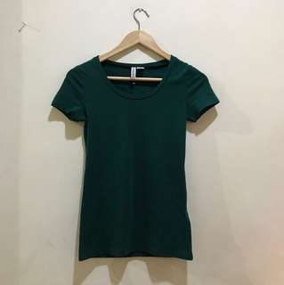 H&M Forest Green Tee