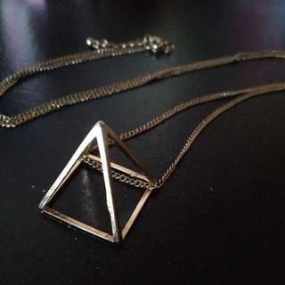 Brandy Melville Long Gold Pyramid Necklace