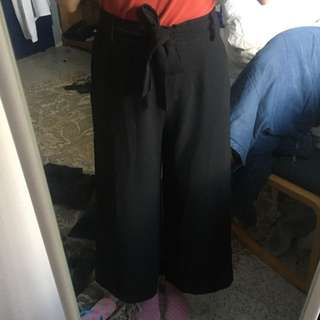 French connection black culottes