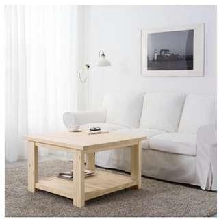 IKEA  REKARNE咖啡桌「實心松木」80*80*50cm