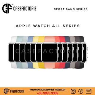 Casefactorie Third-Party 42/38mm Apple Watch Series 3/2/1 Sport Rubber Band Strap Loop