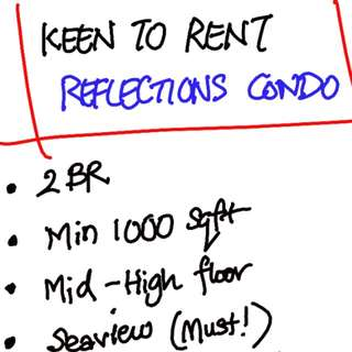 Looking to rent Reflections Condo - 2BR apartment