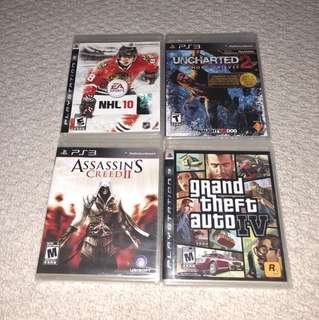 4 PlayStation 3 games PROCE FOR ALL 4