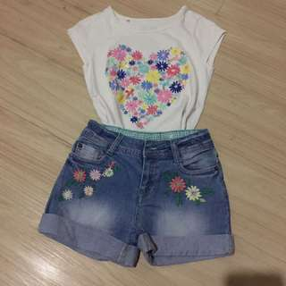 Short and blouse set
