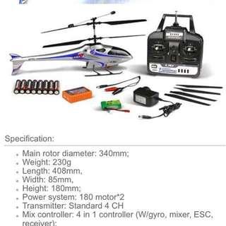 eSky LamaV4 RC coaxial micro helicopter