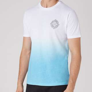 White And Blue Slim Fit T-Shirt