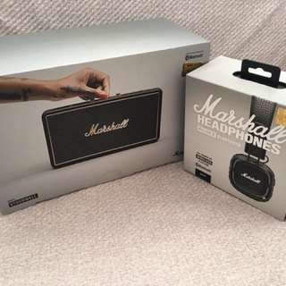 Marshall speaker & headphones