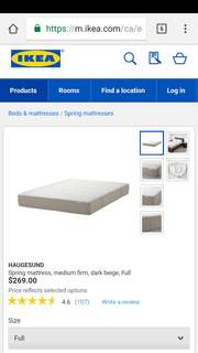 Full/double mattress + protector