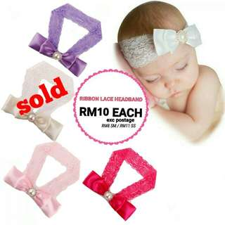 🆕2018🆕 RIBBON LACE HEADBAND RM10