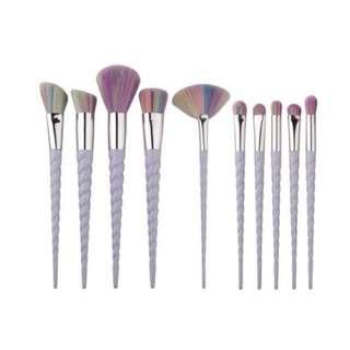 10 pieces unicorn horn make up brush