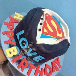 Superman Theme cake