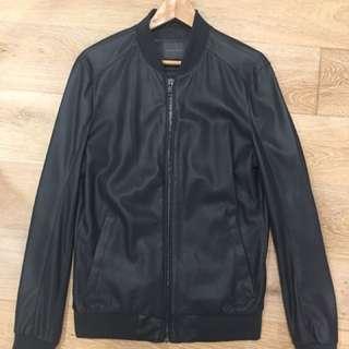 Zara Man Leather Look Jacket Size L