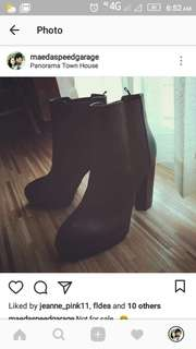 H&M leather Chelsea ankle boots