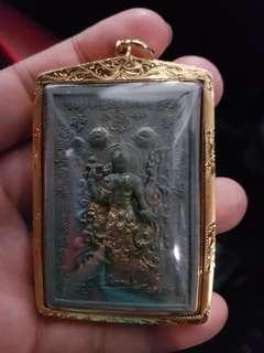 Kruba Krissana Grey Narai 1 in thai gold casing