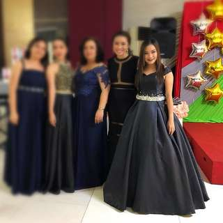 Black Ball Gown for rent or for sale