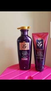 Korea Ryo GinsenEX Anti Hair Loss Shampoo/ Nutritive Treatment