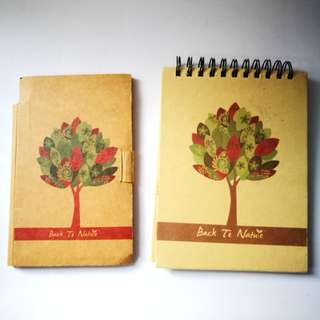PRE💙D Back To Nature Stencil Notebook and Notepad Booklet Bundle (Set of 2)