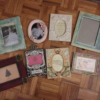Picture frames (8 pieces)