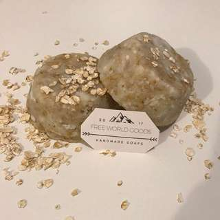 Oatmeal Honey soap infused coconut oil