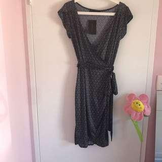 BN Zara sexy wrap round dress
