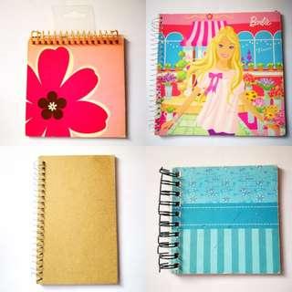 PROMO: 4 Pieces Spring Notebooks (Stencil, Lined, Unlined)