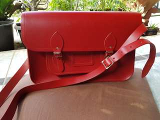 Cambridge Satchel Red 13inch