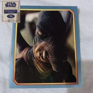 Star Wars Episode 1 Merlin Stickers Metallic Edge Collectible set 5