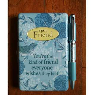 History & Heraldry True Friend Flip Pad Notebook with Pen