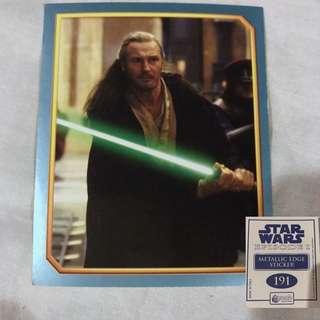 Star Wars Episode 1 Merlin Stickers Metallic Edge Collectible