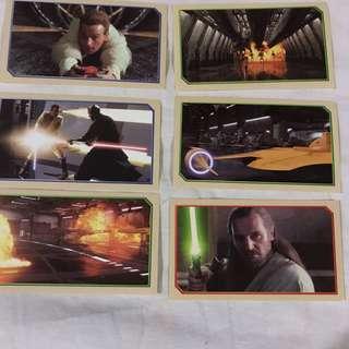 Star Wars Episode 1 Merlin Stickers  Collectible set 7