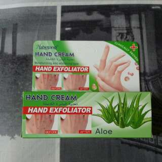 hand and foot exfoliator and cream