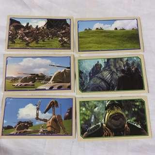Star Wars Episode 1 Merlin Stickers  Collectible set 8